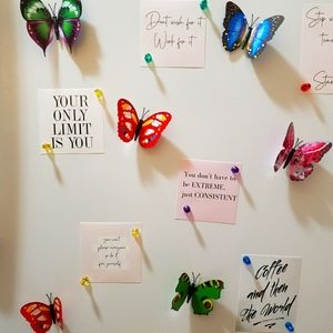 Beautiful Colorful Butterfly Magnets 10 pieces